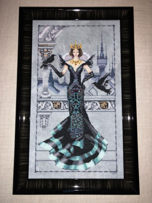 Raven Queen #ravenqueen #crossstitch #mirabilia