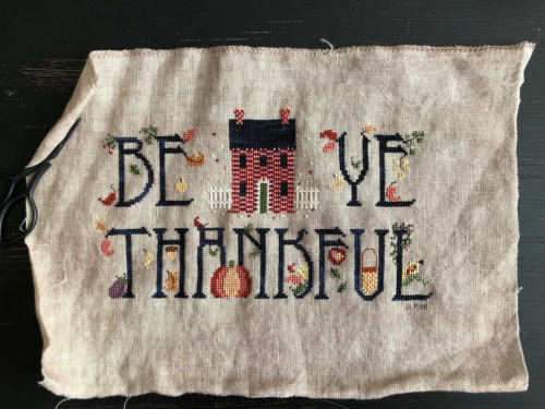 Be Ye Thankful CE Cricket #crossstitch #thanksgiving #beyethankful